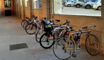 Bicilcletas aparcadas