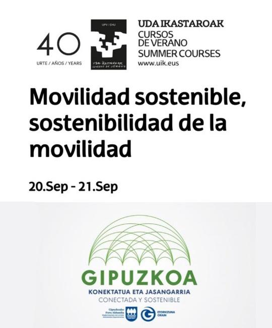 Logotipo del Curso de Verano de la UPV sobre Movilidad sostenible
