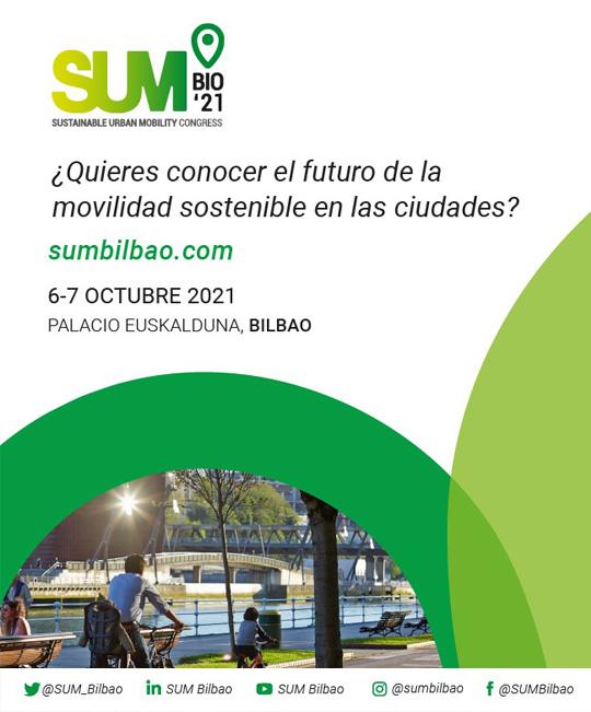 Cartel SUMBilbao21: Sustainable Urban Mobility Congress