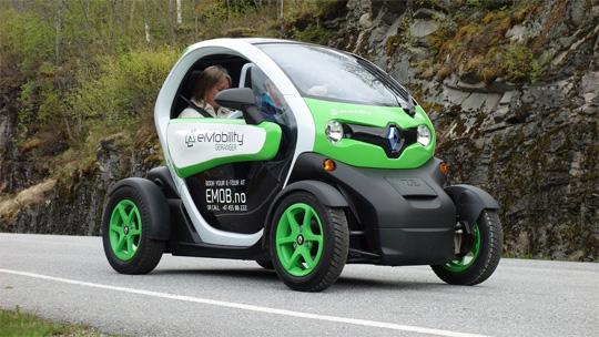 Imagen de un vehículo eléctrico