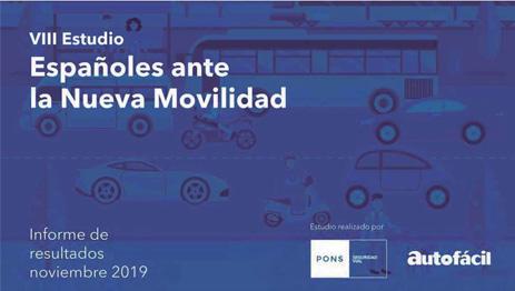 """""""Españoles ante la Nueva Movilidad"""", un estudio de PONS Seguridad Vial"""