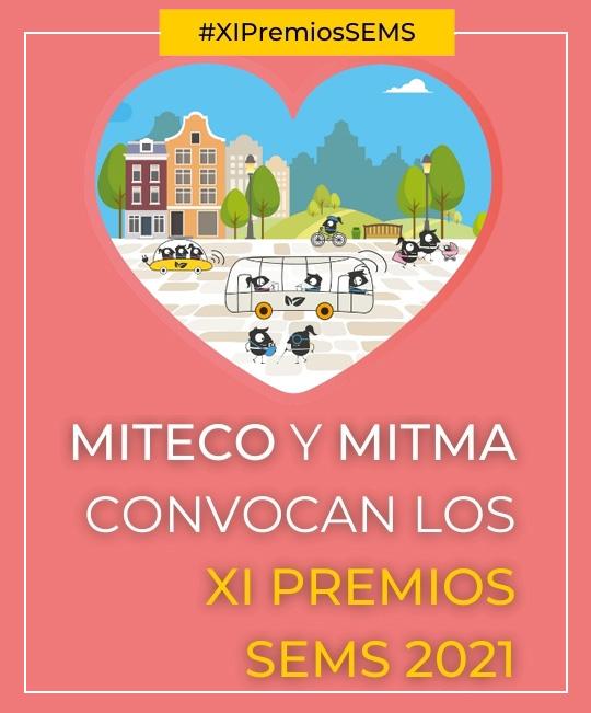 Cartel XI Premios de la Semana Española de la Movilidad Sostenible (SEMS 2021)