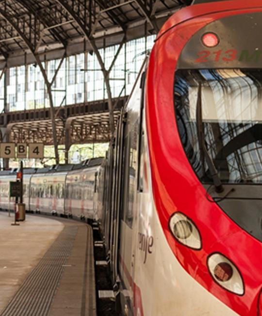 Tren de Cercanias parado en la estación